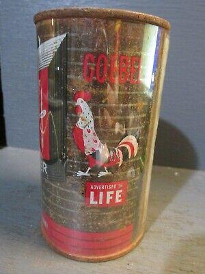 1950`S GOEBEL_ ADV. IN LIFE_ FLAT TOP BEER CAN     -[EMPTY CANS, READ DESC.]-