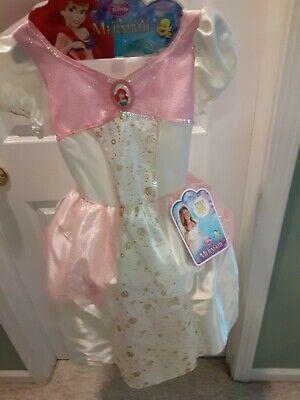 Ariel Mermaid Dress Up (Disney Ariel Wedding Dress Costume The Little Mermaid SZ 4-6X Dress)