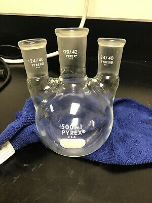 Pyrex 500 Ml Boiling Flask 3 Necks