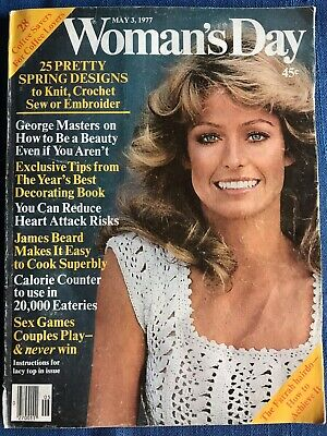Vintage May 1977 Woman's Day Magazine Farrah Fawcett Majors Cover Hairstyle Demo - 70 S Hairstyles For Women