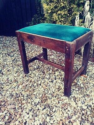 Antique oak base stool ideal recover
