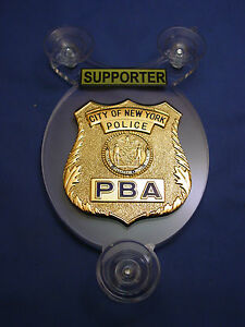 NYC NEW YORK NJSP NJ  PBA POLICE SUPPORTER  CAR SHIELD-NJSP - NYPD - FOP - PBA