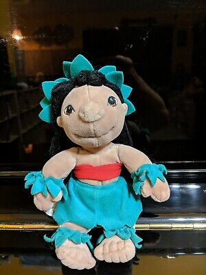 Disney Store Plush Lilo in a hula outfit from the movie