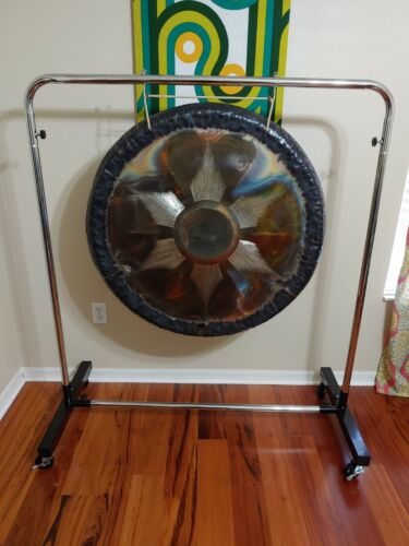 """Tone of Life Sona 36"""" Fire Gong with Stand"""