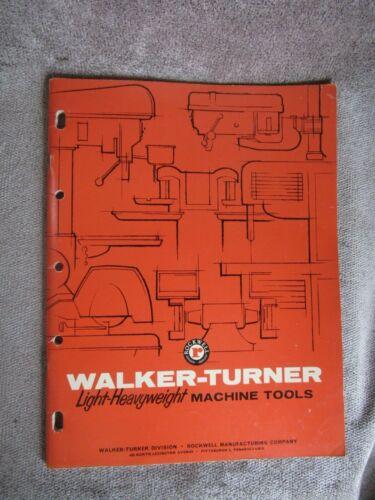Vintage 1961 Walker Turner MACHINE Tool catalog WT-110 3Y 7/61 (11) Rockwell