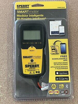 Sperry Instruments Smart Meter Sdmm10000r Bluetooth Digital Multi-use Cat Iii
