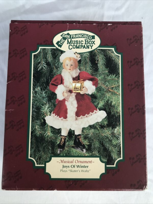 The San Francisco Music Box Company Musical Ornament/Joys of Winter *