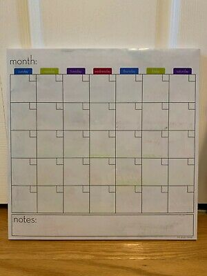 Dry Erase Board Calendar 12in By 12in