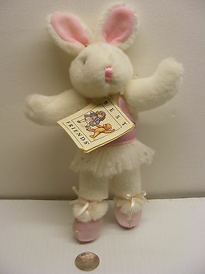 Best Friends teddy bear plush 8in. WHITE RABBIT GIRL,