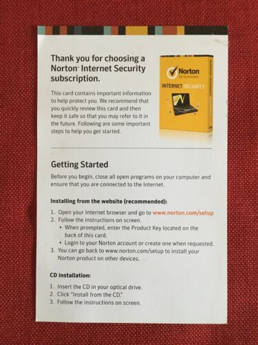 Norton Internet Security 3 PC, 1 Year, Key-Card (US Retail Commercial License)