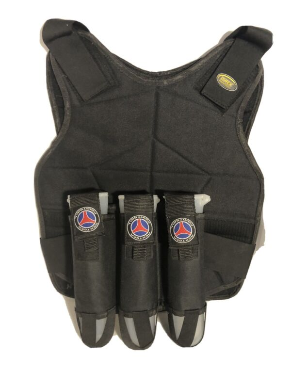 Paintball Vest Harness Black One Size Wreck Paintball with 3 Storage Tubes