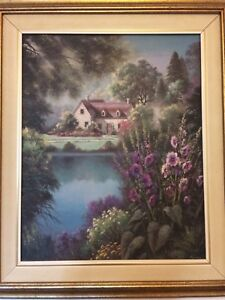 Pretty House by a River wall art.
