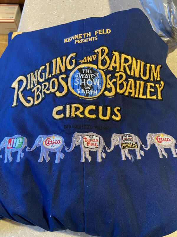 Rare Ringling Bros. And Barnum & Bailey Circus Coverall Jumpsuit Nice Condition