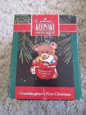 1992 Hallmark Granddaughter's First Christmas Ornament ()
