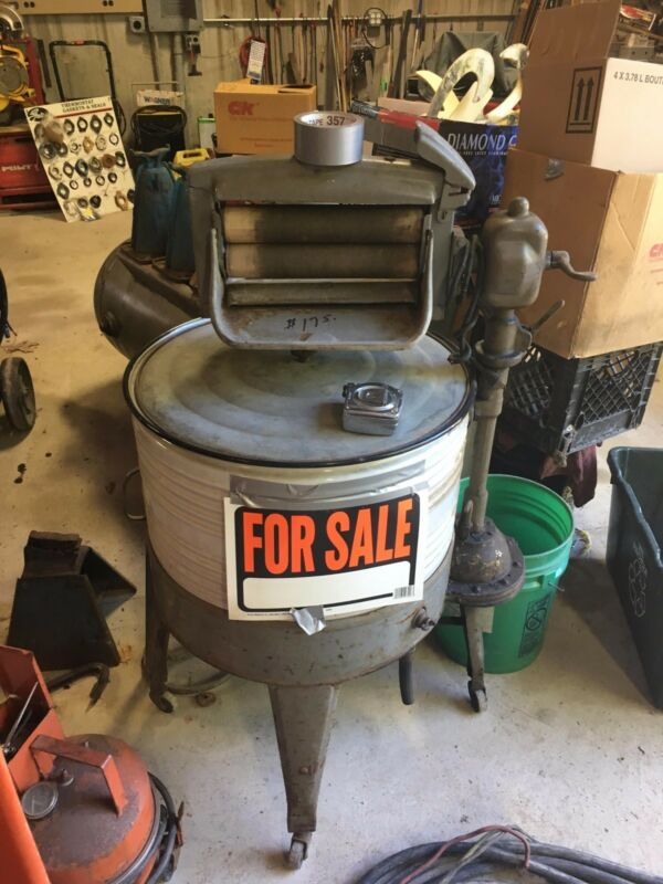 antique clothing washer