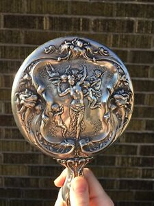Sterling Silver Hand Mirror By Robert Wallace & Sons Circa 1903