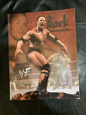 Vintage WWF The Rock 3 Ring Binder Folder 1999 WWE AEW Dwayne Johnson