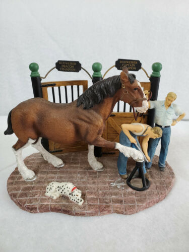 "1998 Budweiser Clydesdale Figurine ""Getting Shod"""
