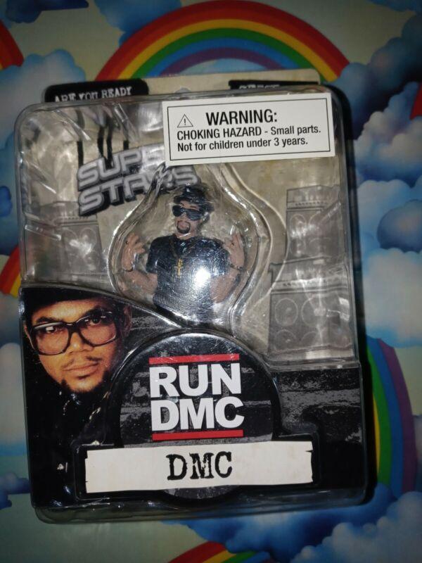 SUPER STARS 2009 RUN  DMC HIP HOP RAP 2 LEGENDS NEW 3.5 FIGURE VINYL PLASTIC TOY