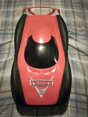 (Rare Disney Cars 2 Lightning Mcqueen Race Track Speedway Case + 20 Diecast Cars)