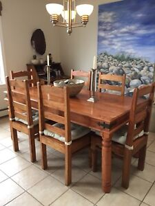 Six chair rose wood dining table