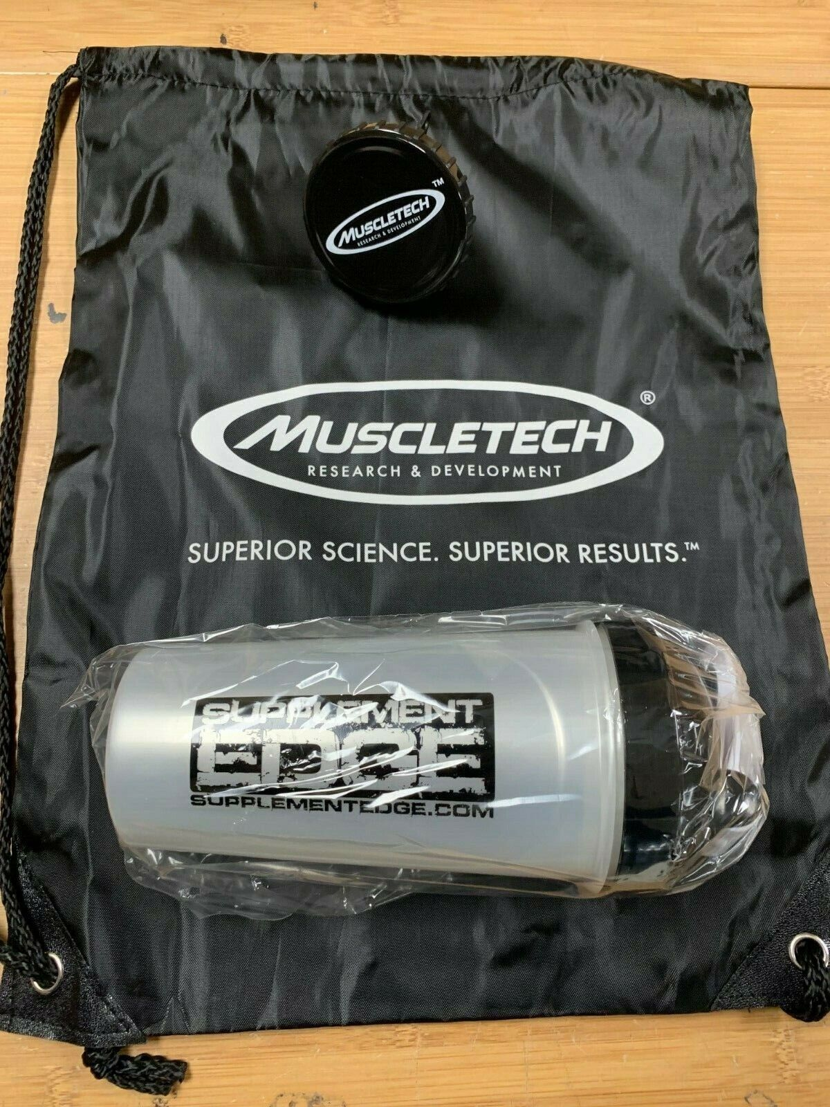 Protein Supplement Shaker, Powder Funnel & MuscleTech Sling