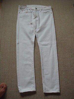 POLO RALPH LAUREN Herren Jeans Gr. 33/32 weiss