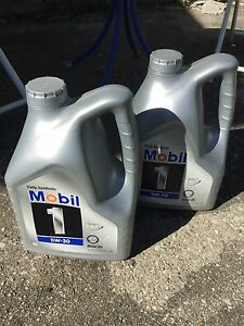 NEW UNOPENED 2 x 4.73L MOBIL 1 FULL SYNTHETIC 5W-30 MOTOR OIL