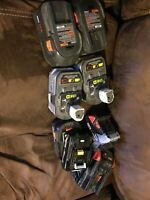 Assortment of power drill batteries Lithium-Ion