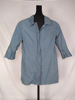Ugg Australia Womens Light Jacket Size M Blue RN 88276 three quarter length Three Quarter Length Jacket