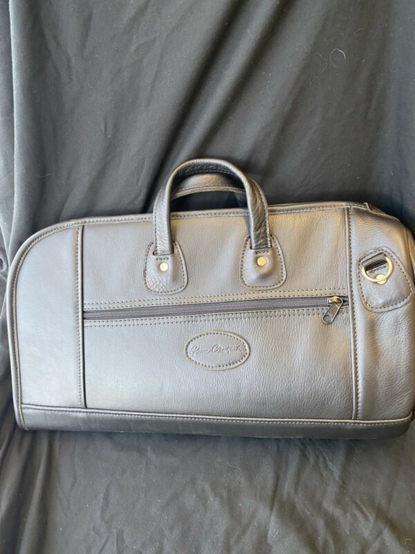 Glenn Cronkhite Black Leather Large Flugelhorn Bag