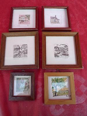 6 schöne,alte ,kleine Bilder__signiert  !