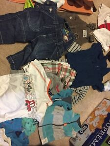 NB and 0-3 month old boy clothes lot