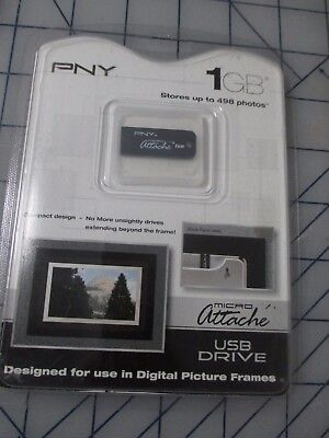 PNY 1GB Micro Attache USB Drive Small Picture Frame card free ship USA (1 Gb Attach Usb)