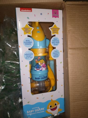 Pinkfong Baby Shark Children s Vacuum With Real Suction Power VC101B NEW IN HAND - $55.00