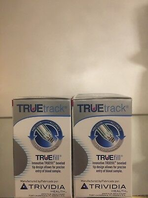 True Track Blood Glucose Test Strips 100 Qty.  Exp 12/2020. Free shipping