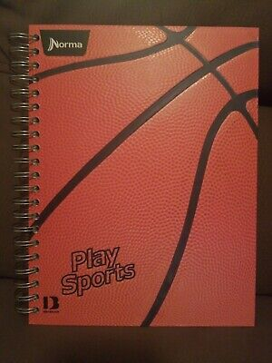 10 Subject Spiral Notebook Basketball Sports 400 Pages