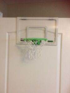 Over the door basketball hoop and ball