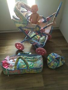 Dolls pram, doll  and accessories Kewdale Belmont Area Preview