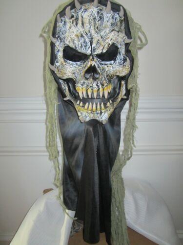 Fun World Div Mask ORIGINAL FULL HEAD Skeleton Halloween Mask 2012 RARE