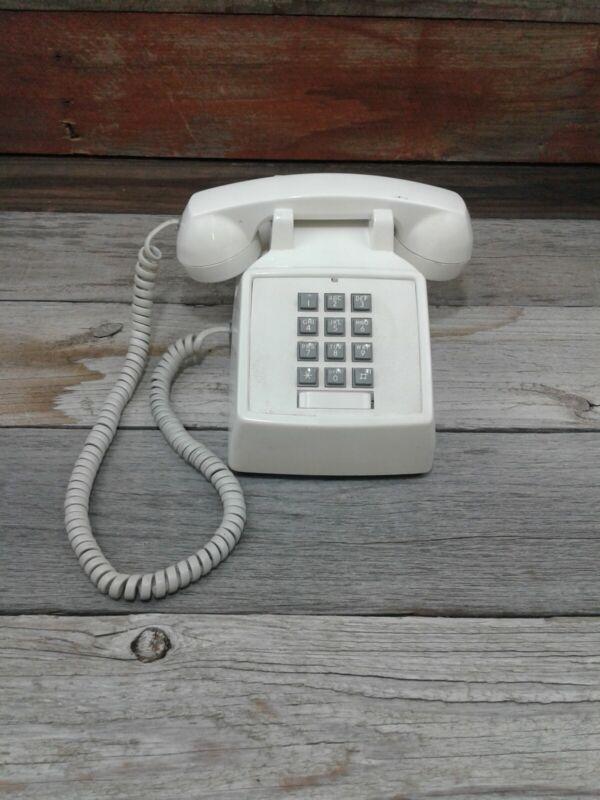 Vintage PacTel Push Button Desk/Home Phone White