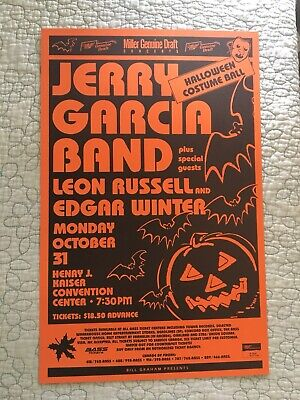 Jerry Garcia Band Poster Halloween Costume Ball 1988 Grateful Dead Leon Russell](Halloween Costume Poster)