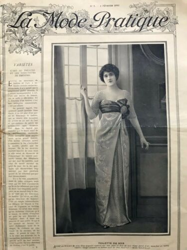 MODE PRATIQUE February 4,1911 +sewing patterns - Afternoon dress, Blouses