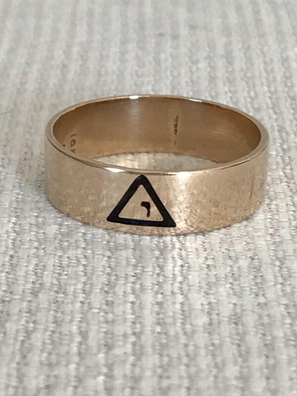 Vintage 10k Gold Masonic Ring - Virtus Junxit Mors Non Separabit - Size 10