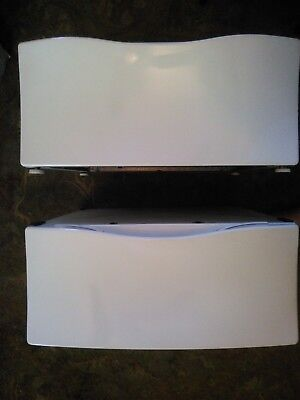Whirlpool Duet Washer & Dryer Pedestal Set-Rare BISCUIT( Almond/Bisque) color