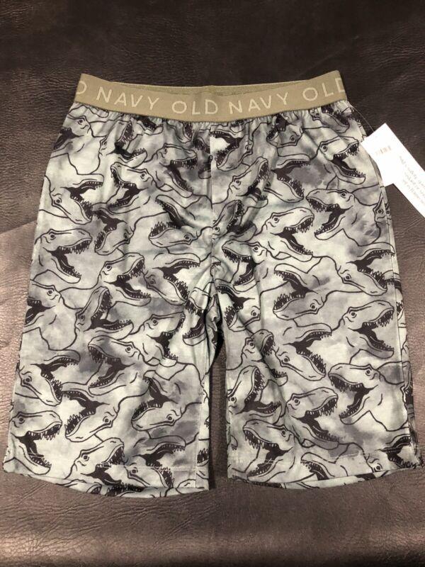 Old Navy Boys Dinosaur Sleep Pajama Shorts Sz S (6-7) NWT