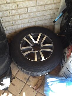 "17x 8"" 4x4 alloy tyres and rims Landsdale Wanneroo Area Preview"