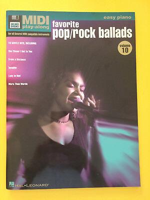 Favorite Pop/Rock Ballads, Easy Piano Vol. 10, Midi Play-Along ()