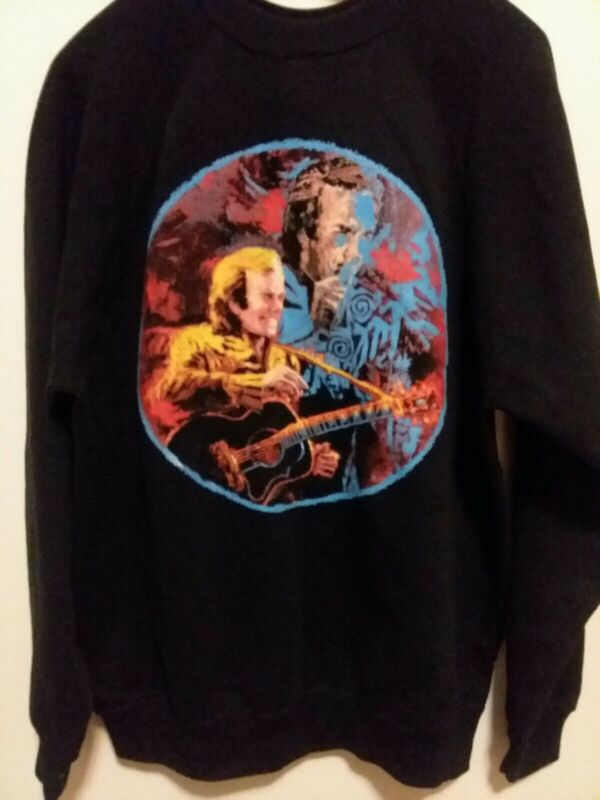 Neil Diamond In The Round Concert Sweatshirt 92 Vintage black made in USA