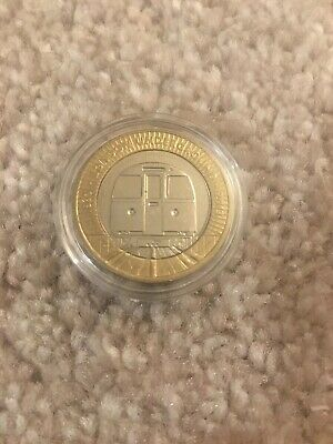 London Underground Train 2 Pound Coin In Protective Capsule